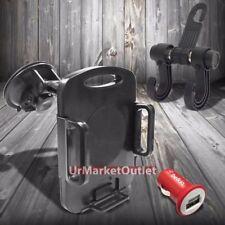 Car Suction Windshield 360 Tablet Mount Holder Cradle+Hanger Hook+Belkin Charger