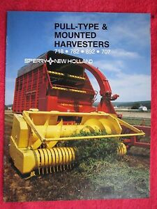 1982 SPEERY NEW HOLLAND PULL TYPE & MOUNTED HARVESTERS 20 PAGE BROCHURE