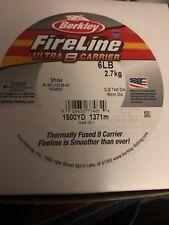 Berkley FIreline Ultra 8 Carrier 6lb 1500yd Smoke Color NIB