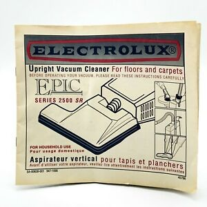 Electrolux Epic 2500 SR Series Upright Vacuum Replacement Owner's Manual