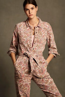 Anthropologie Paisley Utility Jumpsuit new nwt  PS