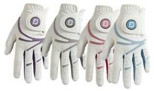 Footjoy Ladies GTxtreme Golf Gloves all weather  in White with Fashion Colours