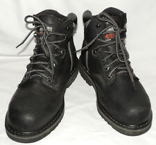 MEN'S TIMBERLAND PRO 'BLACK' ANKLE STEEL TOE BOOTS SIZE 10 M