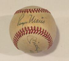 Mickey Mantle & Roger Maris Autographed OAL Lee MacPhail Baseball-PSA LOA