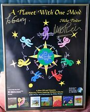 Moody Blues, Mike Pinder, A Planet With One Mind, Poster, Signed, Framed
