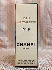 Vintage 1980s Chanel No 19 Eau de Toilette 1.7 oz 50 ml Refillable - OLD FORMULA