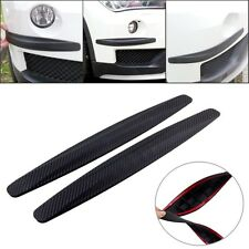 1 Pair 41cm Bumper Protector Corner Guard Scratch Carbon Fiber Texture Rubber