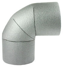 5 x Rohrdämmung, Bogen mit 15mm Durchmesser, 25mm Materialstärke, Warmwasserrohr