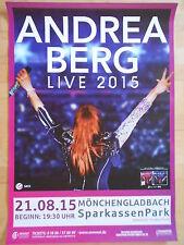 ANDREA BERG 2015 M'GLADBACH    orig.Concert-Konzert-Tour-Poster-Plakat DIN A1