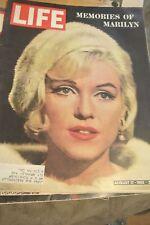 LIFE magazine ~ Memories of Marilyn Monroe. Aug 17th 1962