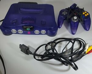Grape Purple Nintendo 64 Console - One Controller NUS-001Tested N64 - With Cords