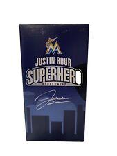 NIB Miami Marlins Baseball Justin Bour Superhero bobble head SGA