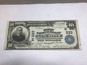 Lancaster Pennsylvania , First national bank , 1902 PB , $10 VF