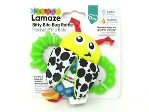 Lamaze Bitty Bite Bug Baby Rattle for Auditory and Fine Motor Skills 0+ Months