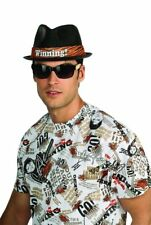 Mens Adult Funny Charlie Sheen Winning Deluxe Black Fedora Costume Hat