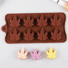 Silicone Maple Leaves Chocolate Mould Candy Cookies Ice Cube Tray Jelly Mold