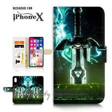 ( For iPhone XS / iPhone X ) Wallet Case Cover P21609 Zelda Sword