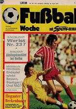 Fußball Woche 16/1974,Bundesliga,BAYERN MÜNCHEN POSTER,WM 74,Scirocco,K. Winkler