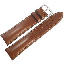 19mm Rios Chicago Cognac Brown Shell Cordovan Leather German Watch Band Strap