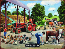 Nuffield Tractor Farmyard Machinery Countryside Small Metal/Steel Wall Sign