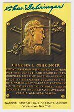 CHARLIE GEHRINGER SIGNED HALL OF FAME CARD AUTO AUTOGRAPH POSTCARD JSA D 1993