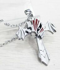 Bleach Hollow Marks Silver Cross Wing Pendant Necklace Anime Cosplay
