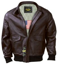 Men A-2 Air Force Flight Bomber Genuine Leather Jacket ( FAST SHIPPING )