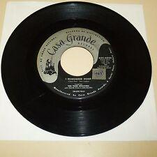 DOO WOP 45 RPM RECORD - THE TUNE WEAVERS - CASA GRANDE 4038