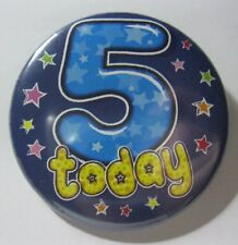 5th Birthday Badge 50mm Pin Button Badge 5th, Party Gift Present D2