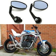 "7/8"" Handle Bar End Motorcycle Rearview Mirrors For Suzuki GSXR 600 750 1000 USA"