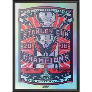 Washington Capitals 2018 Stanley Cup Champions Foil Serigraph # 53/300 Vegas