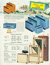 Catalog Page Ad Luggage Blue & White Red Plastic Colors Empire #4 1956