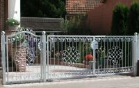 Garden Gates Yard Metal Wrought Iron monaco-gft500/120 Galvanised Premium
