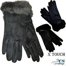 Guanti donna invernali in simil pelo/pelliccia Polso TouchScreen