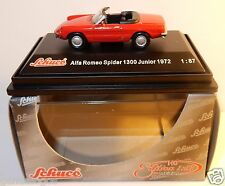 MICRO METAL DIE CAST SCHUCO HO 1/87 ALFA ROMEO SPIDER 1300 JUNIOR 1972 IN BOX