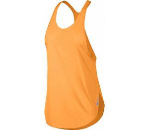 Nike Women's City Sleek Orange/Silver Reflecti Running Tank (AT0784-882) Size S