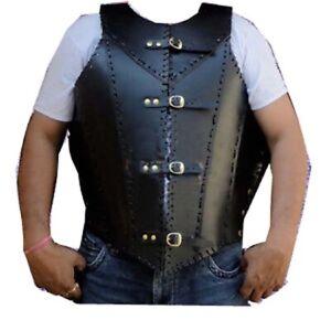 Leather Armor Jacket Vest Medieval Knight Crusader Armor
