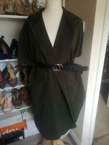 Top Shop Khaki Sleeveless Cape One Size