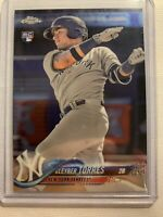 2018 Topps Chrome #31 Gleyber Torres RC RC Rookie Yankees
