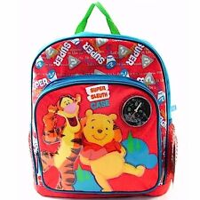 New Disney My Friends Tiger and Pooh kids Boys 12'' Backpack Red/Blue School Bag