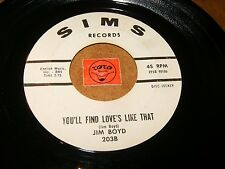 JIM BOYD - YOU'LL FIND LOVE'S LIKE THAT - LET IT HAPPEN  / LISTEN - TEEN POPCORN