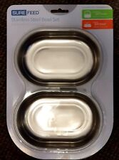 SureFeed STAINLESS STEEL 2 Bowl Set for Microchip Pet Feeder & Sealed Bowl