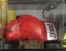 BOXING LEGEND MIKE TYSON SIGNED GLOVE IN DISPLAY CASE