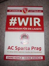 2019 Plakat Energie Cottbus - Sparta Prag / Sparta Praha Testspiel Friendlymatch