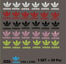 "GLOW IN THE DARK""adidas"" Iron-On LOGO DIY Shirt Clothing Transfer Sticker30 psc"