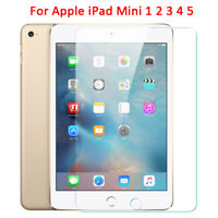 1/2x For Apple iPad Mini 1 2 3 4 5 Clear Tempered Glass Screen Protective Film-R