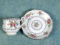 Vintage Royal Albert  Petit Point Bone China Tea Coffee Cup Saucer 1930s England