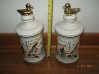 2 Vintage Old Cabin Still Ducks Unlimited Decanters 1972 Waterfowl  both EMPTY