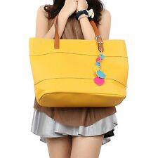 Retro Fashion Womens Tote PU Leather Shoulder Bag Handbag Shopper Candy
