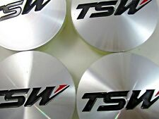 TSW  CHROME/ SILVER CUSTOM WHEEL CENTER CAPS   #PCC43-2  (SET OF FOUR)